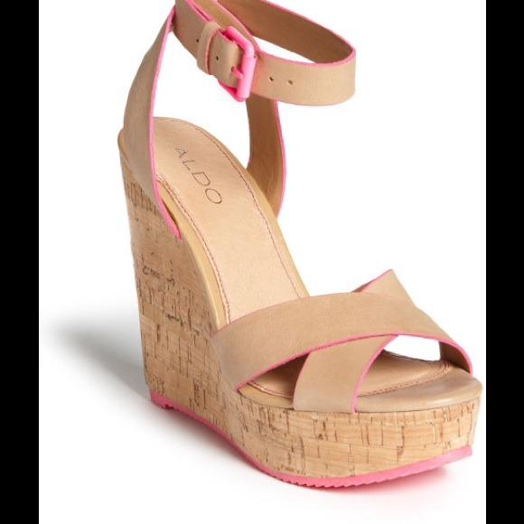 f62a8e3ef20 ALDO Shoes - Aldo brimfield wedge in nude and neon pink