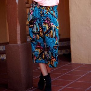 Mink pink pattern harem pants. HP