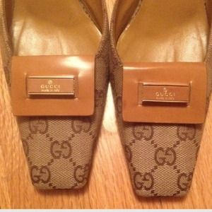 Gucci Shoes - Gucci Kitten Heel Mules