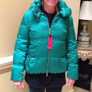 Carolina Herrera Green Puffer Jacket Medium NWT