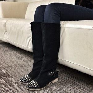 Kelsi Dagger Shoes - Kelsi Dagger || Black Suede ROVER Boots 1