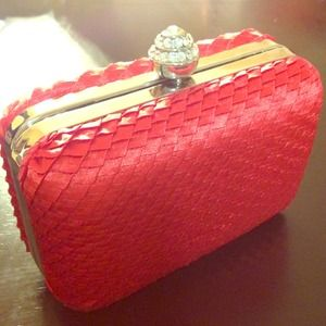 Clutches & Wallets - Bright red clutch