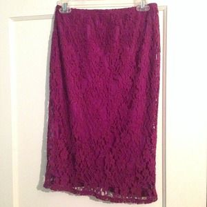 Xhilaration Dresses & Skirts - Purple lace skirt