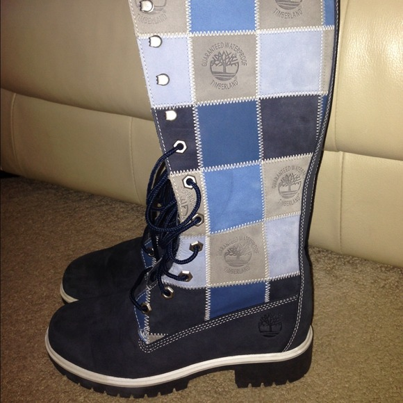 Timberland - Women's Patchwork Timberland Tall Boots Size 5 from ...