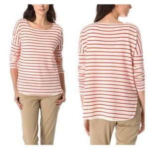 Vince Cashmere Red Striped Sweater
