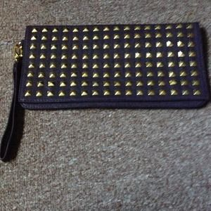 Cute studded clutch NEW