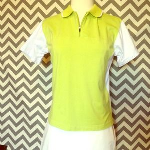 Dolce & Gabanna NEON green & white top