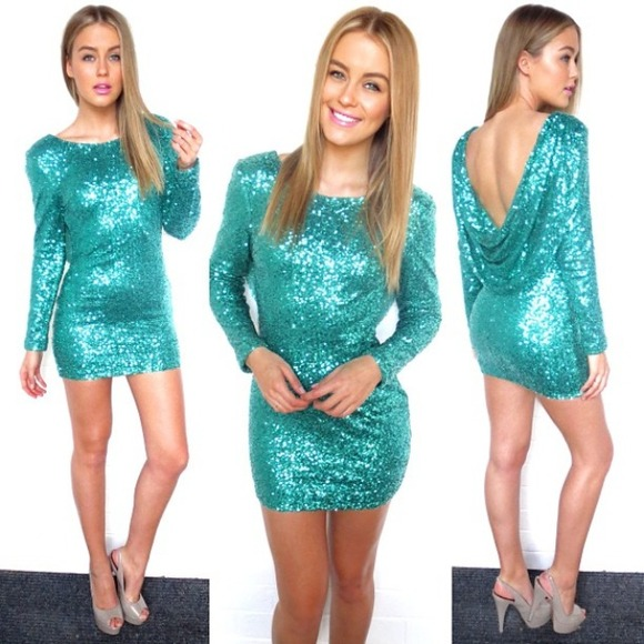 ☀For @andimlikeno☀ Emerald green sequin dress S from ...