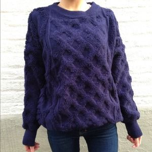 Accessories - Criss cross pattern blue sweater