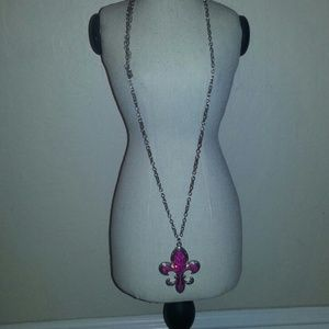 Jewelry - SALE! Pink Glam Medallion Necklace