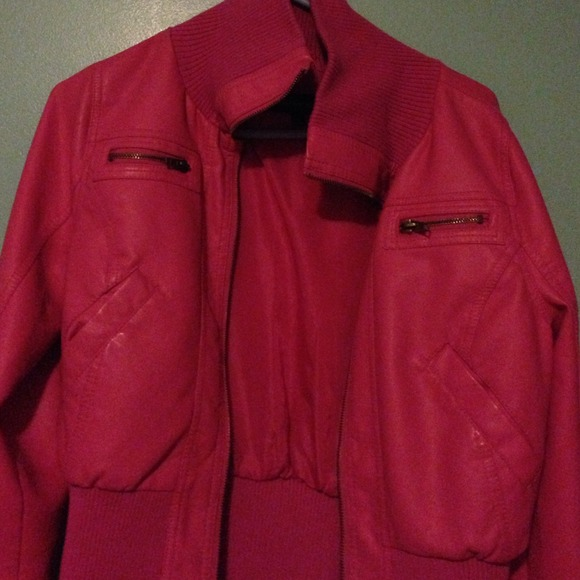33% off Jackets & Blazers - Hot Pink leather Jacket from Annie's ...