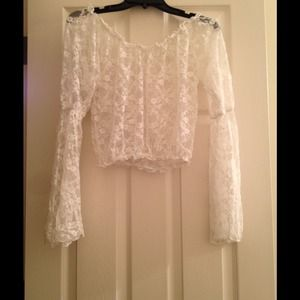 Tops - Cream lace love