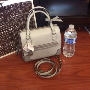 NWT 💯Auth Coach Poppy Colorblock Leather Mini Bag