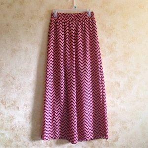 Stoosh Dresses & Skirts - Chevron Maxi Skirt