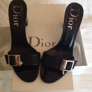 Authentic Dior black shoes