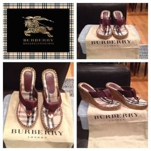 Authentic Burberry Espardrille Thong Sandals