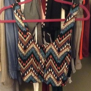 BUNDLED  Tribal print crop top