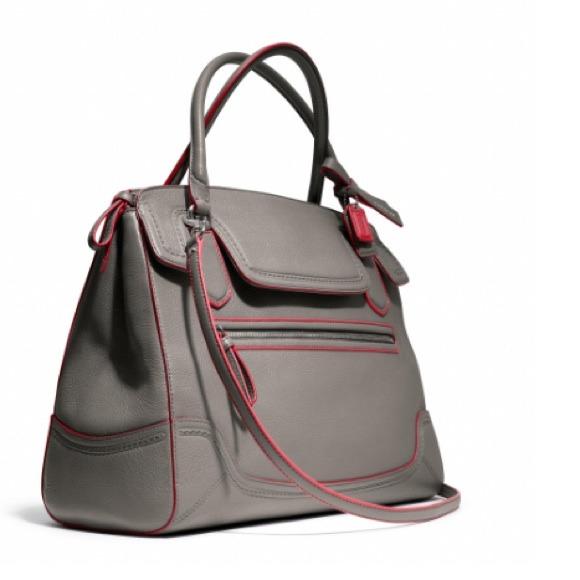41% off Coach Handbags - Coach Poppy Edgestain Large Flap Satchel ...