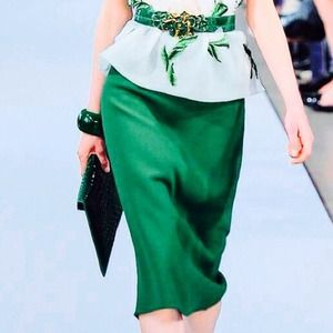 Authentic GIGLI Timeless Emerald Green Skirt