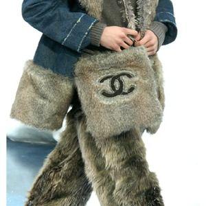 038c68d28ec Chanel Fall 2010 Mongolian Fur Boots NWT