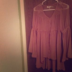 Mauve long sleeve dress
