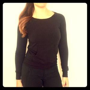 Splendid black stretch sweater