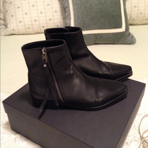 Leather Bootie Flat All Saints Size