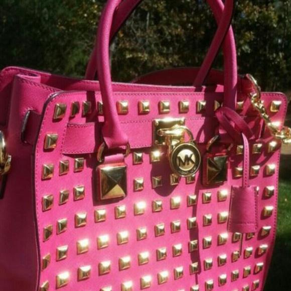 35f3a2874d59fd Michael Kors studded pink Hamilton. M_52a9430c2922dc52a10513be