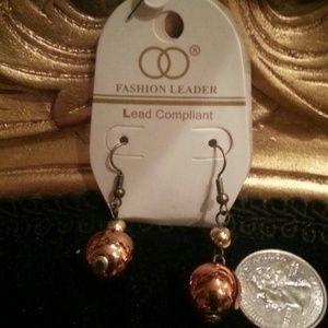 Jewelry - Bronze Dazzle Dangle Earrings
