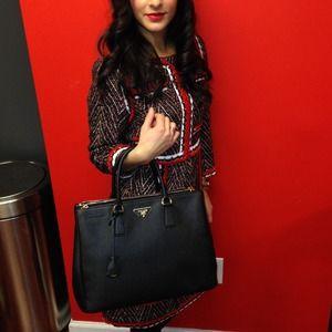 74% off Prada Handbags - Saffiano Cuir Double Bag from Sherlande\u0026#39;s ...