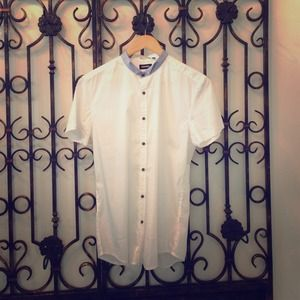 Antony Morato Tops - Antony Morato Corean Neck White Shirt