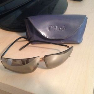 Old school chloe sunglasses with case