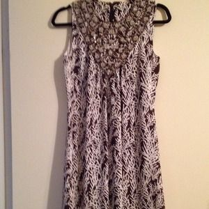 Brown and white Tory Burch dress