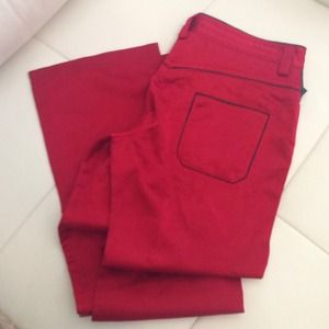 Gianfranco ferre authentic red sateen pants
