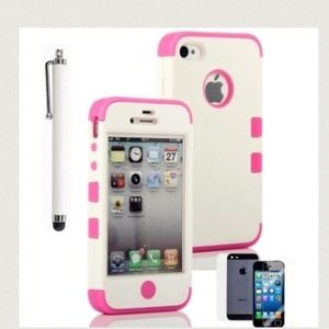 Accessories - Iphone 4 4s dual layered case protection