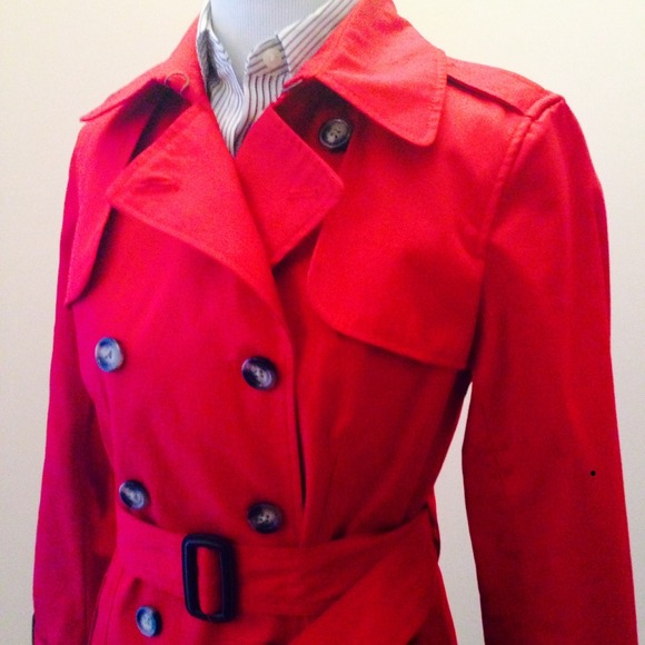 Banana Republic Jackets & Coats - NWT Banana Republic Red Belted Trench Coat!