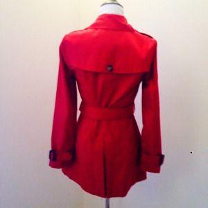 Banana Republic Jackets & Coats - NWT Banana Republic Red Belted Trench Coat!