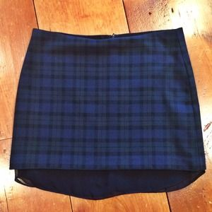 Zara plaid skirt