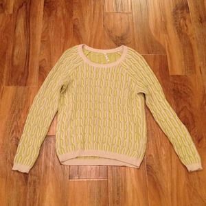 Willow & clay cable knit two toned sweater