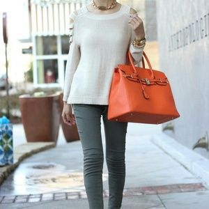 Handbags - Bright orange handbag