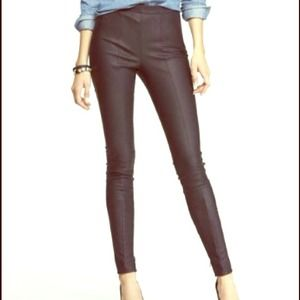 Leather pants legging high waisted