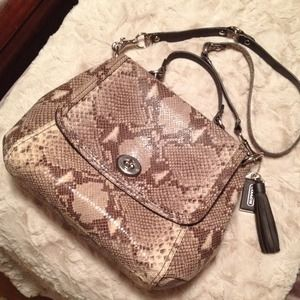 Coach Handbags - Beautiful coach python bag
