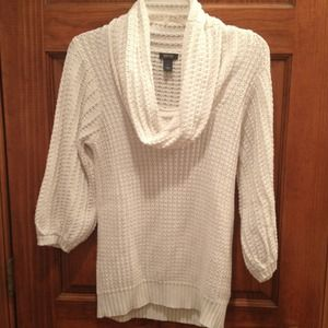 Kenneth Cole cream chunky cowel neck sweater tunic