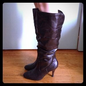 bp leather heel boots