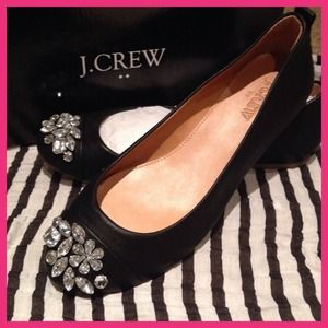 Jeweled Ballet flats by J.Crew NWT 6.5