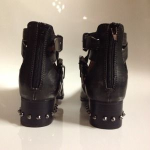 Jeffrey Campbell Shoes - JEFFREY CAMPBELL Distressed Black Spike Boots 3