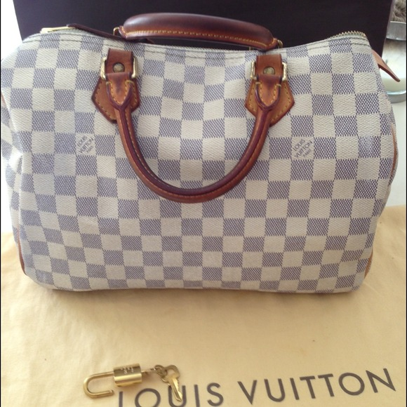 ab60415795b4 Louis Vuitton Handbags - Authentic Louis Vuitton Speedy 30 Damier Azur