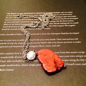 Red stone pendant necklace