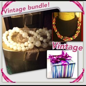 Genuine vintage necklace bundle