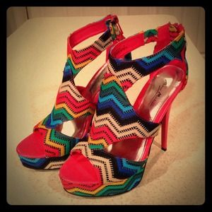 Anne Michelle Shoes - 💋GLAMOROUS MULTI-COLOR STILETTOS💋